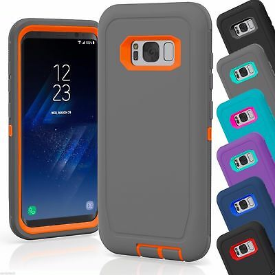 For Samsung Galaxy S8 / S8 Plus+ Defender Rugged Case Cover (Clip Fits Otterbox)