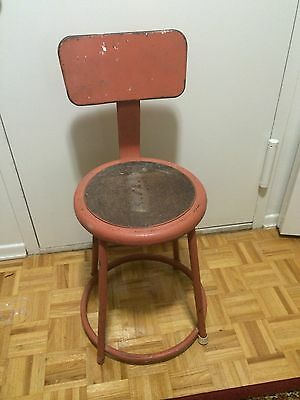 Antique Chicago Royal INDUSTRIAL STOOL Industrial Art Deco