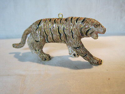 Cloisonne tiger figurine or hanging Christmas ornament