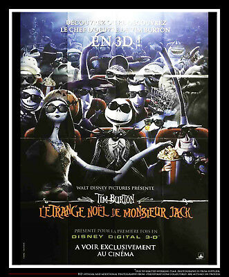 Nightmare Before Christmas In French.Nightmare Before Christmas 3d 4x6 Ft French Grande Movie Poster Original 1993