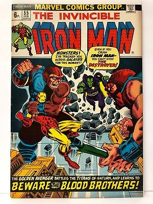 1973 Ironman #55 First Thanos 6.0-7.0 Canada Price Cover 6p