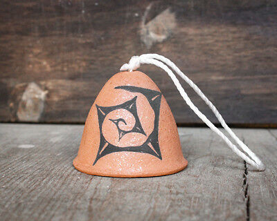 SANTO DOMINGO PUEBLO - POTTERY BELL ORNAMENT by JOSHUA GARCIA -NATIVE AMERICAN