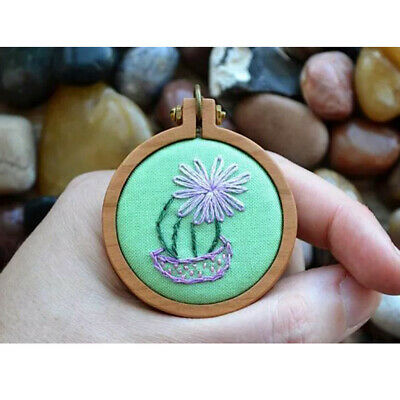 Mini Embroidery Hoop Wooden Cross Stitch Frame For Hand Stitching DIY Sewing