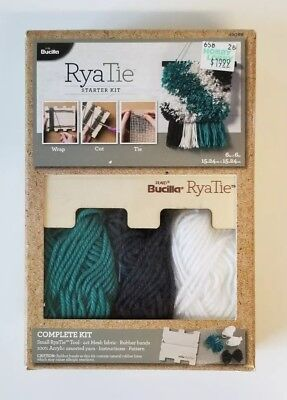 🧶RyaTie Starter Kit Bucilla Needle Arts yarn crochet Knit tassle mesh fabric