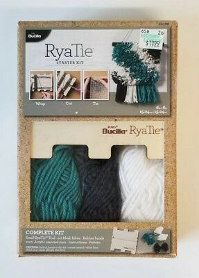 RyaTie Starter Kit Bucilla Needle Arts yarn crochet Knit tassle mesh fabric