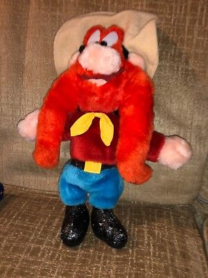 "Vintage 12"" EUC Looney Tunes Yosemite Sam Plush Toy 1995"