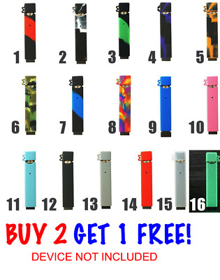 4JUUL Silicone Anti-Slip Cap & Case Grip Skin Cover Wrap Protective Glow NEW!