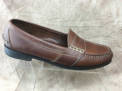 fe4d10e7043 Cole Haan Country Mens Loafers 10.5 D Brown Moc Toe Slip On Leather Casual