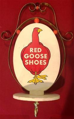 Red Goose Shoes Double Sided Advertising Hanging Rare Rotate Wood Store Signage