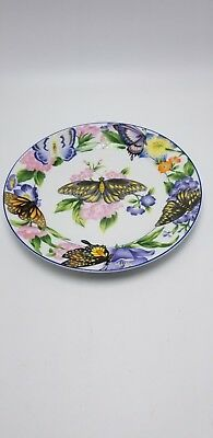 """American Atelier """" Butterfly"""" Design-D Salad Plate 8"""""""