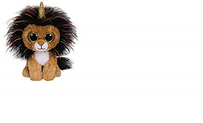 Claire s Girl s Ty Beanie Boo Small Ramsey the Unicorn Lion Soft Toy Brown 360b87e03062