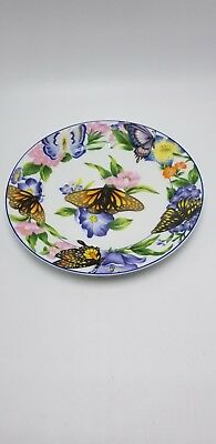 """American Atelier """" Butterfly"""" Design-B Salad Plate 8"""""""