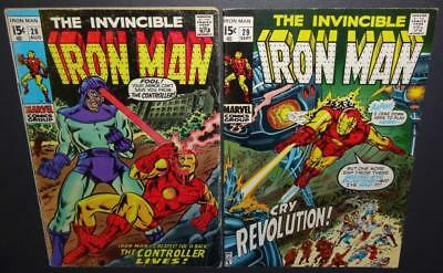 Iron Man #28, 29; 1970 2-issue lot; 4.5-5.0 Controller app BV=$19 40%Off