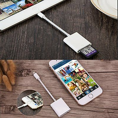 Camera SD Card Reader Adapter Cable for Apple iPhone 7 Plus 6S iPad Pro Air Mini