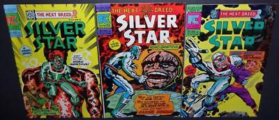 Silver Star #1, #2, #3 1983 3-iss lot; Kirby a-1st app Last of TheViking Heroes