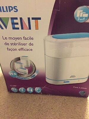 NEW Philips Avent 3-in-1 Electric Steam Sterilizer BPA-Free Baby Bottle Cleaner