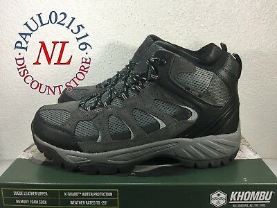 New Khombu Men's Tyler Boot, Black, Suede Leather, All Terrain Hiking Boots