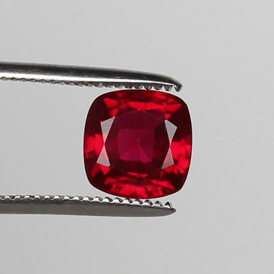 VVS1  Top Natural Mozambique Red Ruby  4.80 Ct Square Cut Loose Certified Gem