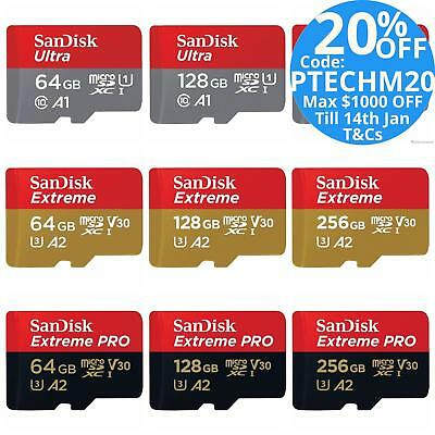 Micro Sd Extreme Pro Sandisk 32gb 64gb 128gb Sd Memory Card 4k Uhd