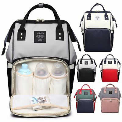 Multifunctional Baby Diaper Bag Nappy Backpack Waterproof Large Changing Bag NEW