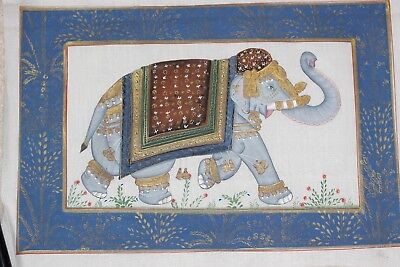 hand painted on silk Indian picture