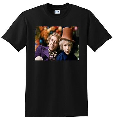 WILLY WONKA & CHARLIE BUCKET T SHIRT chocolate factory SMALL MEDIUM LARGE or XL