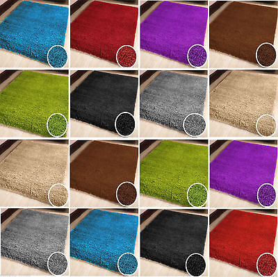 Modern Small Extra Large 5Cm Thick Pile Multi Color Non Shed Shaggy Rugs Carpet