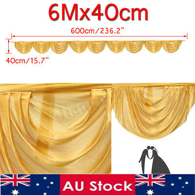 20ft Wedding Backdrop Swags Stage Photography Background Party Curtains Decor
