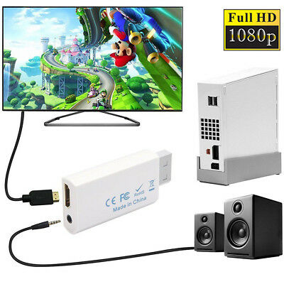 Wii to HDMI 720P 1080P HD Output Upscaling Wii2HDMI Console Converter Adapter TV