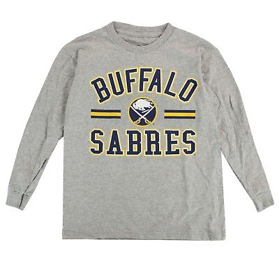 Buffalo Sabres Outerstuff NHL Youth Grey Team Long Sleeve Graphic T-Shirt