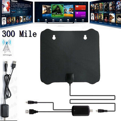 300 Mile Range Antenna TV Digital HD Skywire 4K Antena HDTV 1080p w/ Amplifier