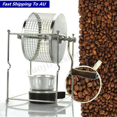 Coffee Beans Baking Machine Manual Roller Roaster Stainless Steel Kitchen Tool