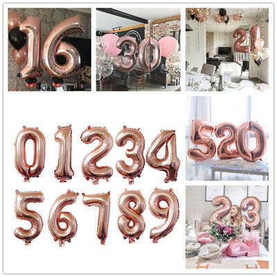 40 inch Giant 0-9 Numbers Foil Balloons Helium/Air Age Birthday Wedding Balloons