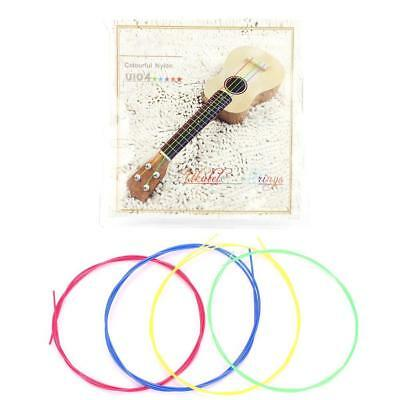 4pcs Colorful Nylon Strings Set Kit Replacement Part Accessory for Ukelele