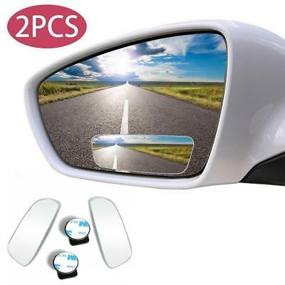 Blind Spot Mirror 2X Rimless HD Glass Wide Angle 360° Convex Mirrors Rear View
