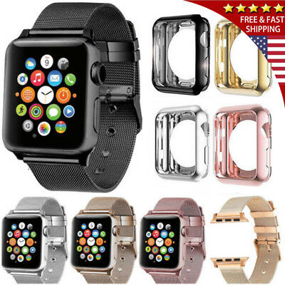 For 40/44MM Apple Watch Series 4 Stainless Steel Milanese iWatch Band Strap Case