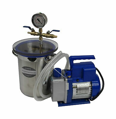 Set for silicone and resin degassing vacuum chamber 4.2l + vacuum pump 51l/min