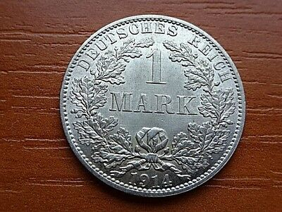UNC Condition Germany Empire 1 Silver Mark 1914 A High Grade Coin.