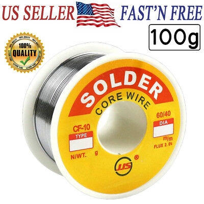 60/40 Tin Lead Rosin Core Flux Solder Wire for Electrical Solderding 1.0mm 100g