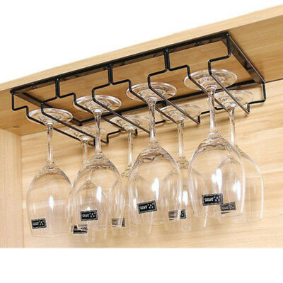 Wine Rack Holder Stainless Steel Hanging Racks Glass Cup Stemware Shelf/Mounted