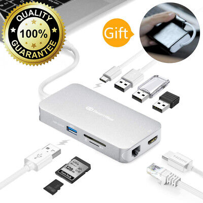 USB C Hub, DesertWest 9 in 1 C Adapter with PD Power Delivery,4K HDMI,...