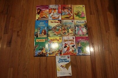 LOT of13 Vintage Walt Disney Wonderful World Of Reading Children Book Hardcover