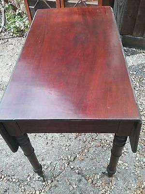 beautiful aged antique victorian flame mahogany drop leaf dining table