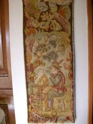 French Antique Tapestry Handwoven 19th Century Wall Panel (One)