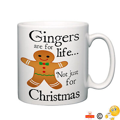 Gingers are for life not christmas funny novelty mug tea coffee home gift cup