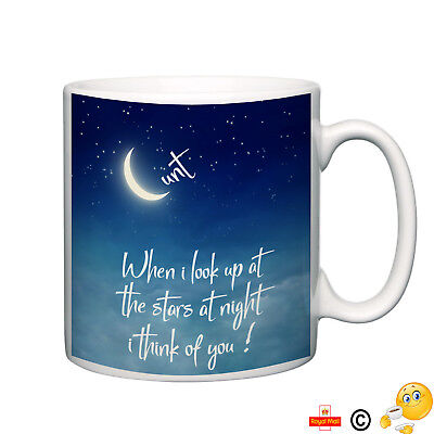 when i look at the stars-cunt mug funny rude i think of you coffee novelty gift
