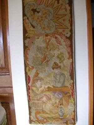 French Chateau  Tapestry  19th Century Handwoven Wall Panel (two)