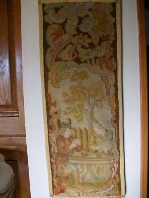 French Chateau  Tapestry  19th Century Wall Panel  (Three)