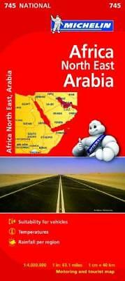 Africa North East  Arabia - Michelin National Map 745 New Sheet map Book