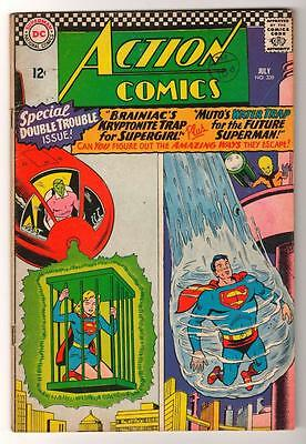 DC  Action Comics SUPERMAN  VGF 339 1966 supergirl